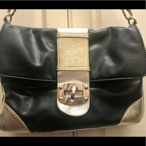 Express Bags - Express Black & Gold Crossbody Bag